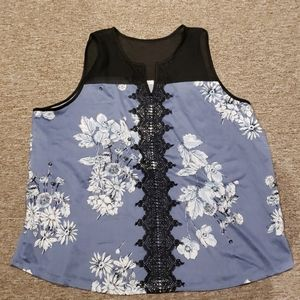 Flower and lace dressy top